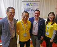 Guta team with ICA members at NamesCon 2017